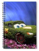 Floral Lightning Mcqueen Spiral Notebook