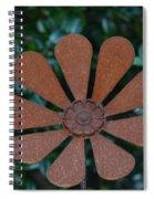 Floral Metal Art Spiral Notebook