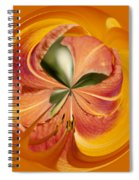Floral Orange Orb Spiral Notebook