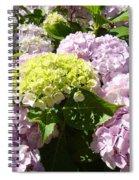Floral Pink Lavender Hydrangea Garden Art Prints Spiral Notebook