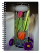 Floral Table Piece Spiral Notebook