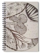 Floral Zen Tangle  Spiral Notebook