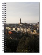 Florence Form The Piazza Michalengelo Spiral Notebook