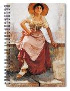Florentine Flower Girl Spiral Notebook