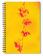 Florets In Ochre Spiral Notebook