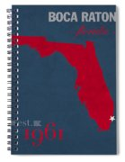 Florida Atlantic University Owls Boca Raton College Town State Map Poster Series No 037 Spiral Notebook