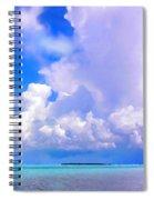 Florida Bay At Shell Pass Filtered Spiral Notebook