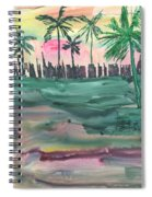 Florida City-skyline2 Spiral Notebook