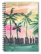 Florida City-skyline3 Spiral Notebook