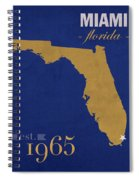 Florida International University Panthers Miami College Town State Map Poster Series No 038 Spiral Notebook