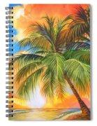 Florida Palm Sunset Spiral Notebook