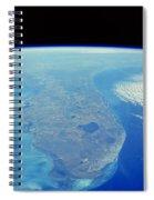 Florida Peninsula, Discovery Shuttle Spiral Notebook