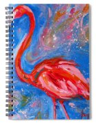 Florida Pink Flamingo - Modern Impressionist Art Spiral Notebook