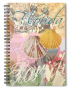 Florida Seashells Collage Spiral Notebook