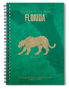 Florida State Facts Minimalist Movie Poster Art  Spiral Notebook