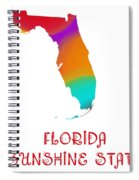 Florida State Map Collection 2 Spiral Notebook
