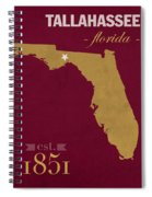 Florida State University Seminoles Tallahassee Florida Town State Map Poster Series No 039 Spiral Notebook