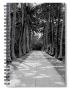 Florida Walkway Black And White Spiral Notebook
