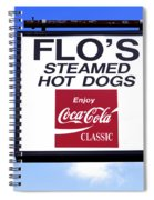 Flo's Steamed Hot Dogs Spiral Notebook