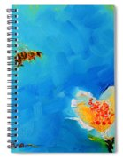 Flower And A Bee Spiral Notebook