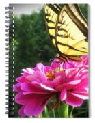 Flower And Butterfly Spiral Notebook