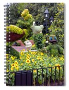 Flower And Garden Signage Walt Disney World Spiral Notebook