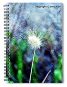 Flower As A  Painting Spiral Notebook