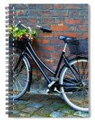 Flower Basket Bicycle Spiral Notebook