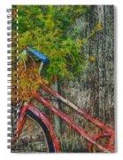Flower Basket On A Bike Spiral Notebook