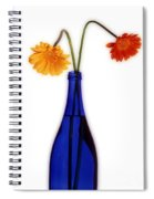 Flower Blues Spiral Notebook