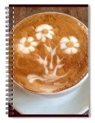Flower Bouquet Latte Art Spiral Notebook