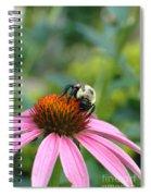 Flower Bumble Bee Spiral Notebook