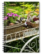 Flower Cart In Garden Spiral Notebook
