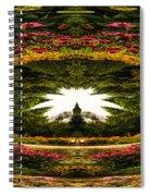 Flower Garden Polar View Spiral Notebook
