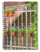 Flower Gates Spiral Notebook