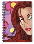 Flower Girl Pink Spiral Notebook