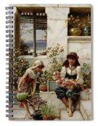 Flower Girls Spiral Notebook