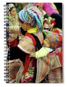 Flower Hmong Baby 03 Spiral Notebook