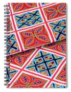 Flower Hmong Embroidery 02 Spiral Notebook