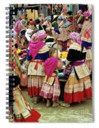 Flower Hmong Girl 01 Spiral Notebook