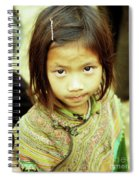 Flower Hmong Girl 02 Spiral Notebook