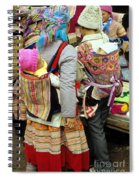 Flower Hmong Mothers And Babies Spiral Notebook