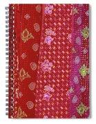 Flower Hmong Velvet Spiral Notebook