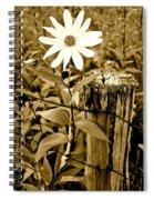 Flower In Sepia Spiral Notebook