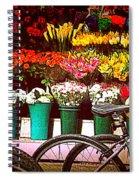 Flower Market With Bike Spiral Notebook