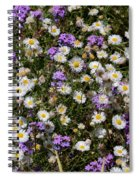 Flower Mix - Purple And White Spiral Notebook
