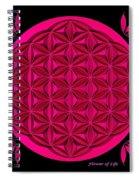 Flower Of Life - Pink Spiral Notebook