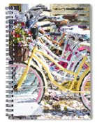 Flower On A Bicycle 2 Spiral Notebook