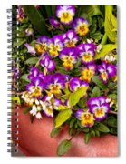 Flower - Pansy - Purple Posies  Spiral Notebook