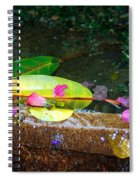 Flower Petals And Leaves Spiral Notebook
